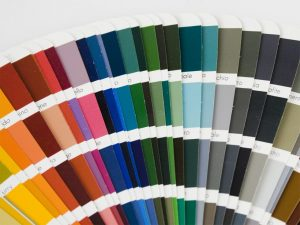 stock image paint chips