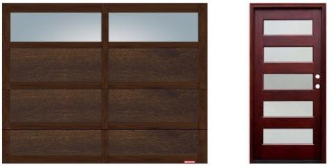 garage door and front door
