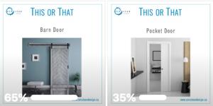 barn door and pocket door