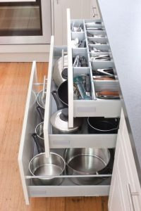 big drawers in kitchen
