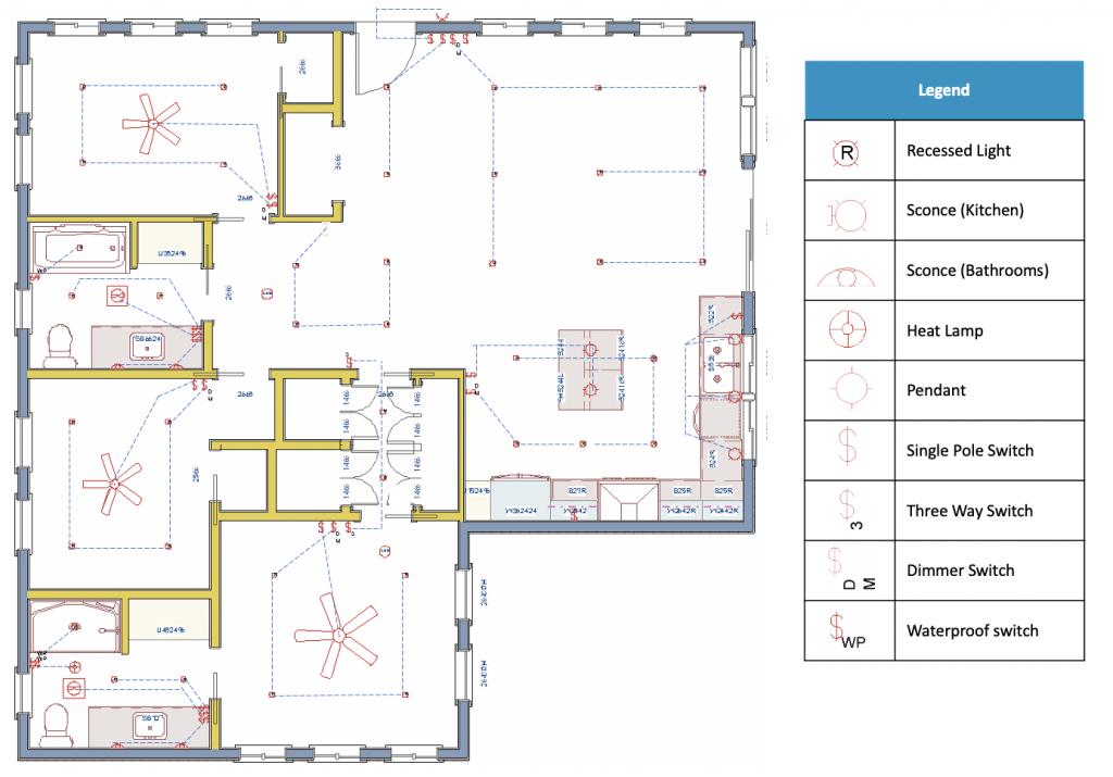 the functional plan Lighting plan