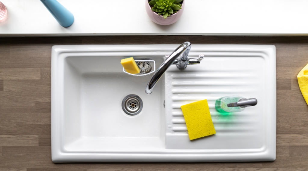 sink with side platform